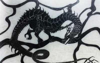 dragón serpiente de la mitología nórdica