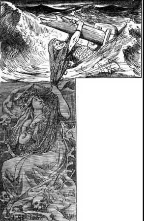 ran arrastrando a un hombre bajo el mar