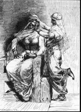 Thor disfrazado de mujer, contado en las eddas nórdicas