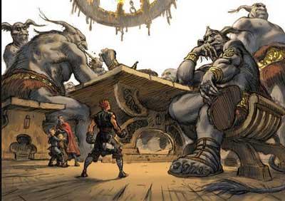 thor loki y los gigantes